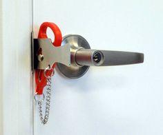 Add-A-Lock Portable Door Lock   DudeIWantThat.com