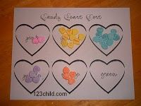 You can make a sorting/ reading color word activity. You can also put a number in the heart and have the child practice one-to-one correspondence.