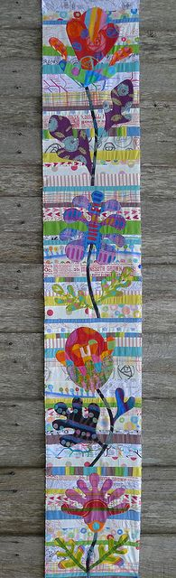 Kim McLean - flower garden - First Panel by Cabbage Quilts, via Flickr