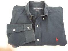 Ralph Lauren Blake Navy Blue long sleeve dress shirt, XL FREE SHIPPING #RalphLauren