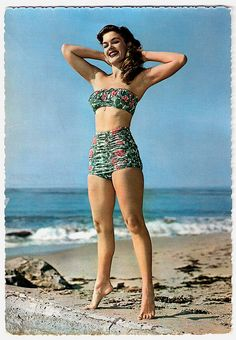 Belle of the beach! #vintage #1950s #summer