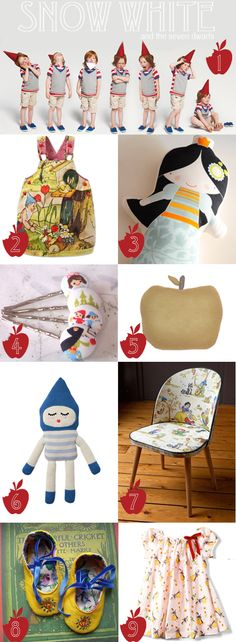 snow white and the seven dwarfs inspiration board kids products