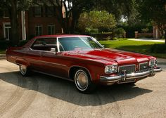 1973 Oldsmobile 98 LS Sedan, not as perfect as a '71 or '72 due to the government-required dental work...but still damned fine