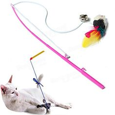 Vedem Pet Cat Funny Playing Toy Rope Teaser Cat Catcher Wand Toy with Faux Toy Mouse >>> Want additional info? Click on the image.
