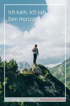 Stell dir vor: Urlaub in Vorarlberg. Zu Fuß oder mit dem Bike, zwischen See und Berg – oder doch lieber mit der Gondel bergauf? Von dort oben blickst du dann auf ein Land, das einfach nur schön ist – grenzenlos. Willkommen am etwas anderen Ende Österreichs. #venividivorarlberg #visitvorarlberg #myvorarlberg Flora Und Fauna, Berg, Mountains, Nature, Travel, Hiking Trails, Road Trip Destinations, Beautiful Places, Hiking
