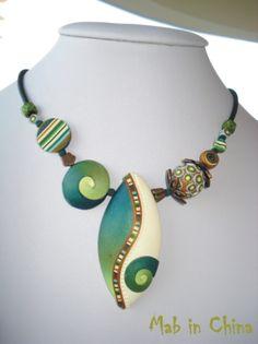 Mabcrea art, Polymer clay necklace