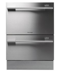 Fisher U0026 Paykel Double DishDrawer Stainless Steel Flat Door Dishwasher   Two  Independently Operated Drawers/ Independent Wash Programs/ Eco