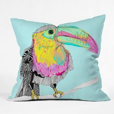 Casey Rogers Toucan Throw Pillow | DENY Designs Home Accessories