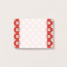 Switzerland Flag with  Heart pattern Post-it Notes - modern style idea design custom idea