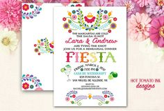 Items similar to Fiesta Invitation- Couple's fiesta Invitation- couples fiesta shower Cinco de Mayo Invitation-Mexican Invitation-Margarita- Printable on Etsy Rehearsal Dinner Invitations, Rehearsal Dinners, Bridal Shower Invitations, Birthday Invitations, Invites, Fiesta Shower, Fiesta Party, Digital Invitations, Invitation Cards