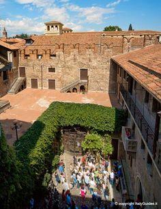 View overlooking Juliet's balcony