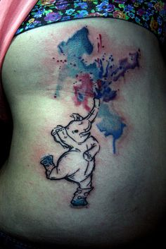 dancing elephant watercolor tattoo | Flickr - Photo Sharing!