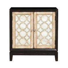 Storage Cabinet: Samuel Lawrence Mirrored Cabinet - Black/Gold ($368) ❤ liked on Polyvore featuring home, furniture, storage & shelves, cabinets, black, gold furniture, black cabinet, black furniture, eglomise furniture и gold cabinet