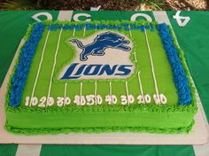 Detroit Lions grooms cake Football cake Chubs birthday
