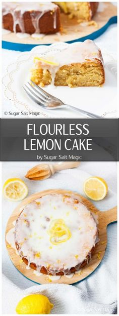 Fresh and zesty and naturally gluten-free, this Flourless Lemon Cake is perfect for an afternoon tea or dessert. recipes Fresh and zesty and naturally gluten-free, this Flourless Lemon Cake is perfect for an afternoon tea or dessert. Gluten Free Lemon Cake, Gluten Free Sweets, Gluten Free Cakes, Gluten Free Baking, Dessert Cake Recipes, Lemon Desserts, Healthy Dessert Recipes, Baking Recipes, Desserts Menu