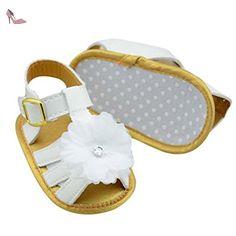 Sandales B/éB/é Fille Pantoufle Plat Chaussures Mode Casual pour 0-18 Mois Sandales B/éB/é Fille Mignon Confortable Chaussures Bebe Fille Ete Walaka