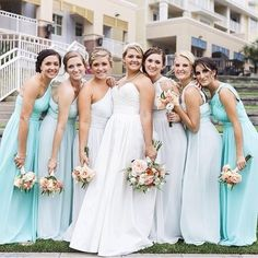 Something blue, bridal & beautiful for your #WeddingWednesday! Wishing @baileyjane24 & her hubby a happily ever after! {photo shared by bailey jane | photo by mcbee photography | dresses by donna morgan weddings} #wilddunesweddings #love #ido — at The Village Wild Dunes.