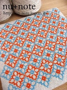 Is this the answer to my dislike of cross stitch – japanese floral motifs? I can see this in olive & pale pink.
