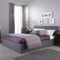 Guerriero Upholstered Ottoman Bed Frame Wrought Studio Size: Double (4'6), Colour: Grey