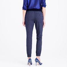 Sideline pant in indigo-stripe chambray : Slim | J.Crew