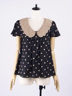 kitty dots blouse, franche lippee... LOVE IT!