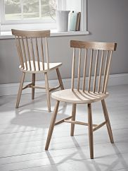 NEW Two Oak Spindle Back Chairs