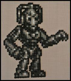Cyberman Doctor Who perler beads by Jelizaveta on deviantART