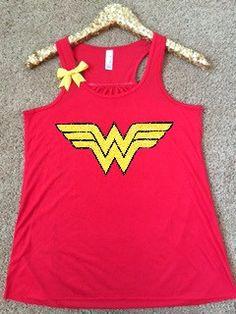 Wonder Woman Logo Shirt - Superhero Shirt - DC - Ruffles with Love - G