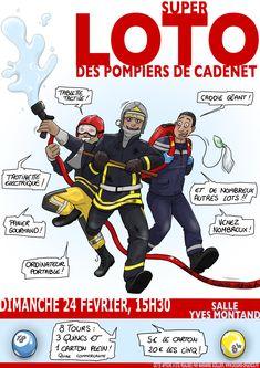 Affiche réalisée pour les pompiers de Cadenet ! 🙂     .    Attention, cette image n'est pas libre de droits. N'hésitez pas à me contacter pour tout renseignement ! Cadenet, Attention, Comic Books, Comics, Cover, Fire Department, Event Posters, Cartoons, Cartoons