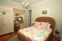 Key West Style New Home Bedrooms tropical-bedroom