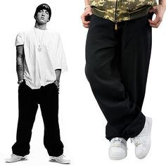 hot new 2014 european style brand fashion jean mens hip hop jeans Black baggy casual pants skateboard plus size Free shipping