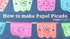 Watch the video and then visit https://happythought.co.uk/day-of-the-dead/how-to-make-papel-picado & use the link to DOWNLOAD your FREE Papel Picado pattern ...