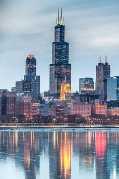 Chicago Wallpaper, City Wallpaper, Chicago Photography, Travel Photography, Chicago Skyline, City Aesthetic, Blue Aesthetic, Cities, Lake Michigan