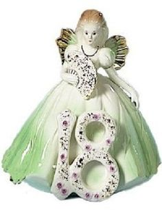 "Josef Eighteen Year Doll - ""You're EIGHTEEN quite a woman, now with lots of plans to make. The future, bright and promising, is there for you to take."" A light green dress and a fan compliment this 6"