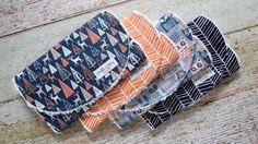 Woodland Burp Cloth Set Owl Burp Cloth Set by BobbleKottzBoutique