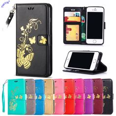 Flip Case for Apple iPhone 5 s 5s Se iPhone5 s iPhoneSe Case Phone Leather Cover for Apple i Phone5 s Phone5S PhoneSe Phone 5 5S