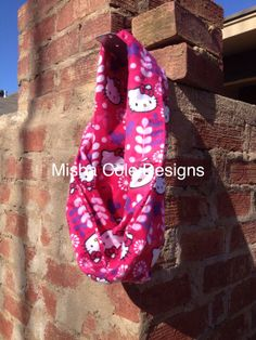 Infant Toddler Infinity Scarf Hello Kitty Hot by mishacoledesigns, $7.50