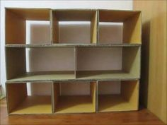 DIY How To Make Shoes Rack From Recycled Cardboard