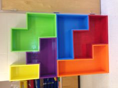 My Tetris bookshelf for my classroom!