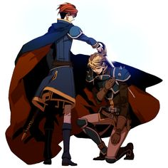 "Crunchyroll - Lily Hoshino Completes ""Fire Emblem"" Tribute Illustration -- Eliwood and Harken"