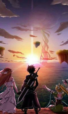 Asuna (Yuuki Asuna), Kirito (Kazuto), Leafa (Suguha) & Yui (IA) - By Sword Art Online ღ