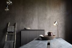 Vintage furniture and concrete