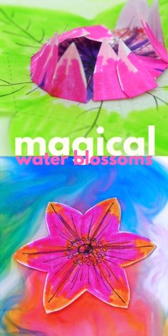 Magical Paper Flowers This artful paper flower for kids to make is magical…. Explore absorption, diffusion and kirigami in this STEAM project. Easy Art For Kids, Summer Crafts For Kids, Projects For Kids, Spring Kids Craft, Art Videos For Kids, Spring Art Projects, Spring Crafts, Flower Activities For Kids, Flower Crafts Kids
