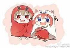 Umaru-chan x Gintama Okita and Kagura. Anime e mangá. Art Anime, Manga Anime, Bleach Couples, Himouto Umaru Chan, Gintama, Okikagu, Anime Love Couple, Anime Crossover, Animation