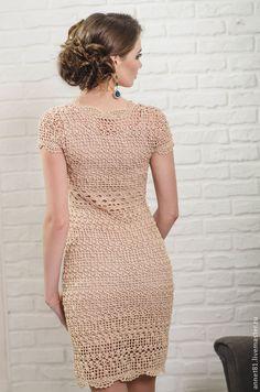 Knit Dress, Dress Skirt, Crochet Crop Top, Crochet Clothes, Crochet Dresses, Crochet Woman, Crochet Fashion, Crochet Patterns, Short Sleeve Dresses