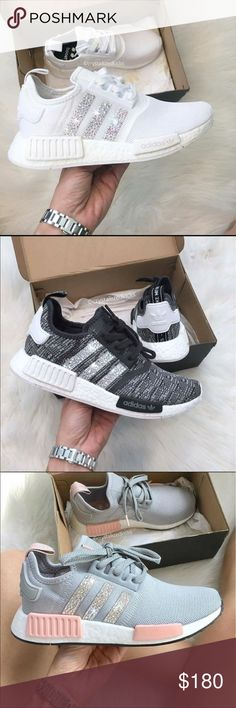 Nmd Bling Bling!!  Ladies!!! Hurry and grab your pair while supplies last!! Adidas Shoes Athletic Shoes