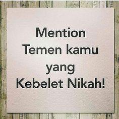 Mending kebelet nikah daripada kebelet zina  Setuju ? . . . from @nikahasik -  #ikhwan #akhwat #muslimah #jodoh #likeislam #dakwah #hijrah #taaruf #indonesiatanpapacaran #indonesiamenutupaurat #jodohduniaakhirat #jomblomulia #baper #savejomblo #tausiyahku #tausiyahcinta #hijrahcinta #cintasejati #beraniberhijrah #muhasabah http://ift.tt/2f12zSN