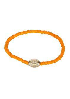 Luis Morais Bracelets :: Luis Morais drum bead star yellow gold orange bead bracelet | Montaigne Market