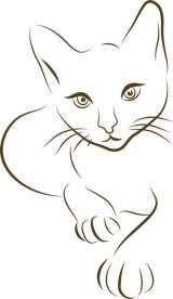 StipoDeco der Spezialist für individuelle Schablonen und Aufkleber – Zeichnen lernen StipoDeco the specialist for custom stencils and stickers – learn to draw – the Cat Drawing, Line Drawing, Painting & Drawing, Art Rupestre, Custom Stencils, Cat Quilt, Cat Tattoo, Tattoo Tree, Sketch Tattoo