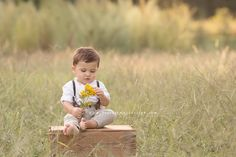 Handsome One Year Old Boy | Raleigh Baby Photographer